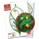 Quilling Template, Narzissen/ Daffodils Extra Template