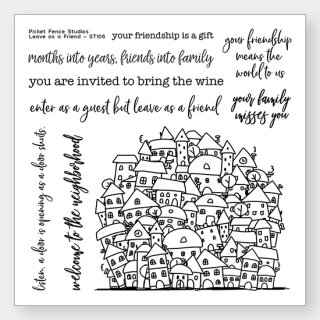 Picket Fence Studios, Clear Stempel, Leave As A Friend
