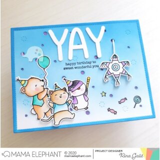 Mama Elephant, clear stamp, Piñata Party