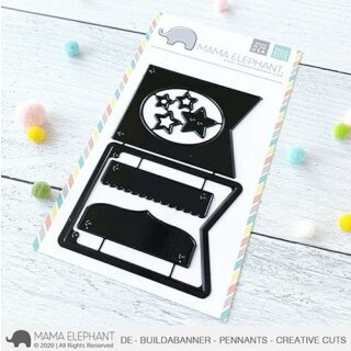 Mama Elephant, Creative Cuts/ Stanzschablone, DE - Buildabanner - Pennants