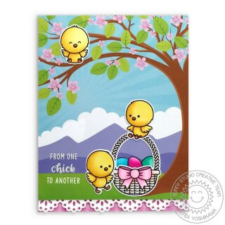 Sunny Studio Stamps, clear stamp, Chickie Baby