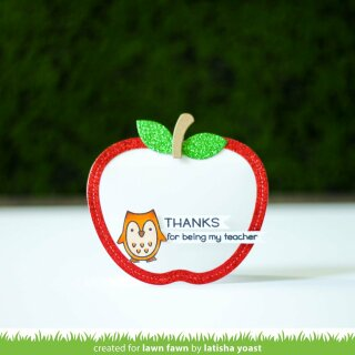 Lawn Fawn, lawn cuts/ Stanzschablone, stitched apple frames