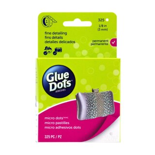 Glue Dots - micro dots roll, 1/8in (3mm), 325 dots, permanent
