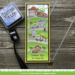 Lawn Fawn, clear stamp, village heroes