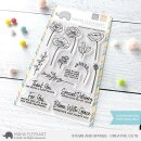 Mama Elephant, clear stamp, Stems and Sprigs