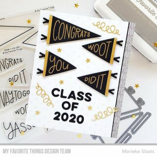 My Favorite Things, clear stamp, Positively Peppy Pennants
