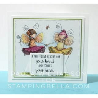 Stamping Bella, Rubber Stamp, TINY TOWNIE FAIRY BEST FRIENDS RUBBER STAMP
