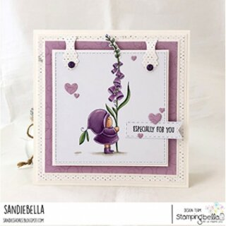 Stamping Bella, Rubber Stamp, BUNDLE GIRL WITH A FOXGLOVE