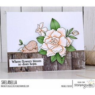 Stamping Bella, Rubber Stamp, BUNDLE GIRL WITH A GARDENIA