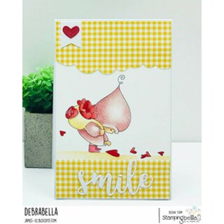 Stamping Bella, Rubber Stamp, BUNDLE GIRL WITH A HEART TRAIL