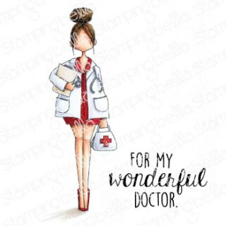Stamping Bella, Rubber Stamp, CURVY GIRL DOCTOR