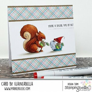 Stamping Bella, Rubber Stamp, THE GNOME AND THE SQUIRREL