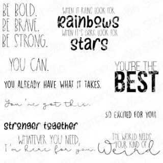 Stamping Bella, Rubber Stamp, ENCOURAGEMENT SENTIMENT SET