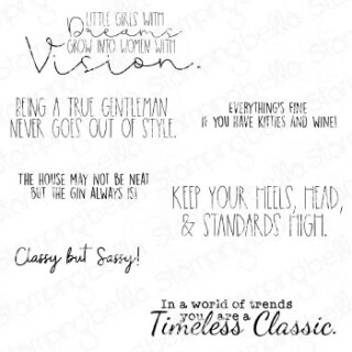 Stamping Bella, Rubber Stamp, TIMELESS CLASSIC SENTIMENT CLASSIC