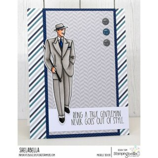 Stamping Bella, Rubber Stamp, EDGAR AND MOLLY VINTAGE MARTINI MEN SET