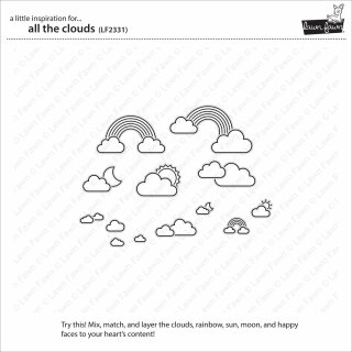 Lawn Fawn, clear stamp, all the clouds