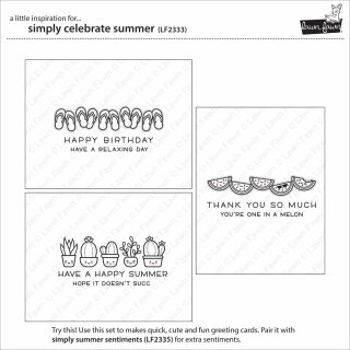 Lawn Fawn, clear stamp, simply celebrate summer
