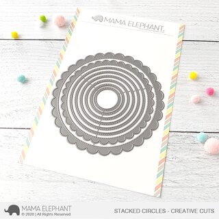 Mama Elephant, Creative Cuts/ Stanzschablone, Stacked Circles