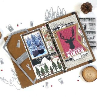 Elizabeth Craft Designs, Cutting Dies / Stanzschablonen, Planner Essentials 13, Xmas Winter Insert