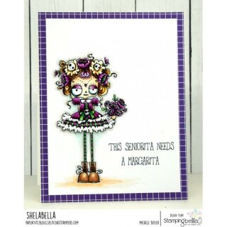 Stamping Bella, Rubber Stamp, ODDBALL DAY OF THE DEAD
