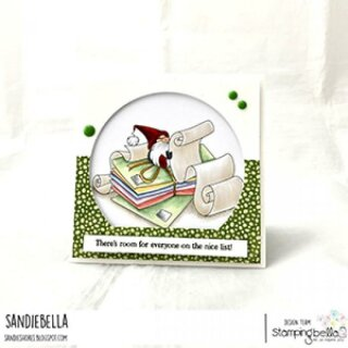 Stamping Bella, Rubber Stamp, GNOME WITH A LIST