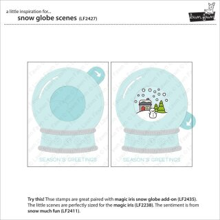 Lawn Fawn, clear stamp, snow globe scenes