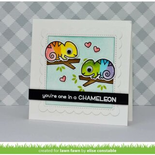 Lawn Fawn, clear stamp, one in a chameleon