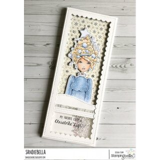 Stamping Bella, Rubber Stamp, MOCHI CHRISTMAS TREE GIRL