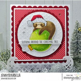 Stamping Bella, Rubber Stamp, SLOTH ORNAMENT