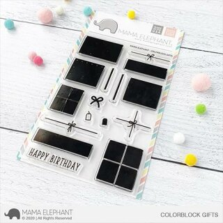 Mama Elephant, clear stamp, Colorblock Gifts