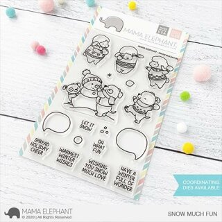 Mama Elephant, clear stamp, Snow Much Fun