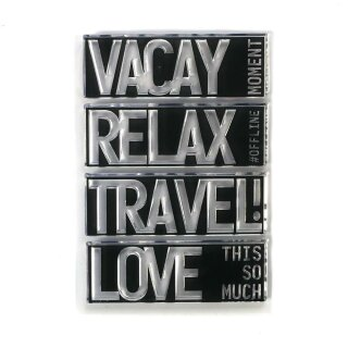 Elizabeth Craft Designs, Clear Stamps, Block Words - Travel
