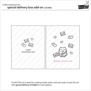 Lawn Fawn, clear stamp, special delivery box add-on