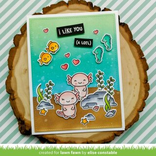 Lawn Fawn, clear stamp, i like you (a lotl)