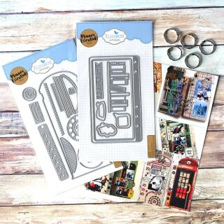 Elizabeth Craft Designs, Cutting Dies / Stanzschablonen, Phone Booth Kit