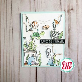 Avery Elle, clear stamp, Underwater Background Builder