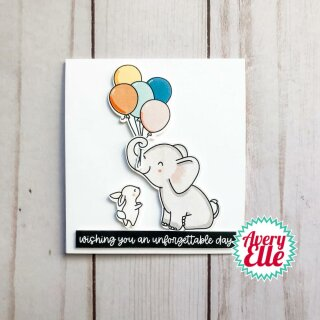 Avery Elle, clear stamp, Elephantastic
