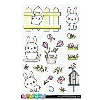 C.C. Designs, clear stamp, Bitty Bunny