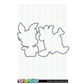 C.C. Designs, Outline Metal Die/ Stanzschablone, Easter Critters