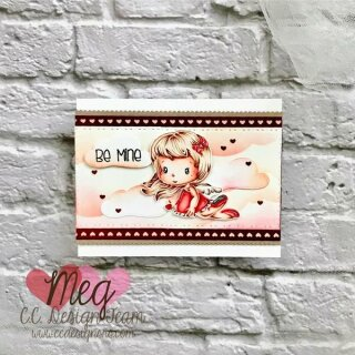 C.C. Designs, clear stamp, Cupid Swissie