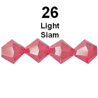 Swarovski-Facettperle 5301 LIGHT SIAM 4mm 30 Stück